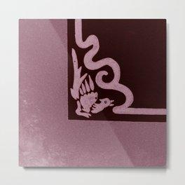 """Art Stucco"" Maroon Metal Print"
