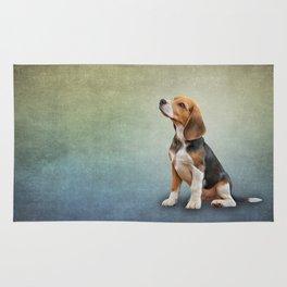 Drawing puppy Beagle Rug