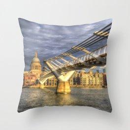 The Millennium Bridge Throw Pillow