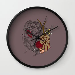 Holiday Locs Wreath Wall Clock