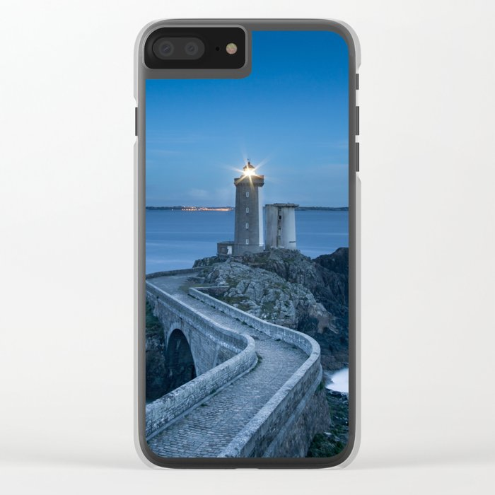 Lighthouse blue Clear iPhone Case