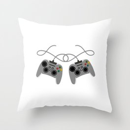 """Great Nice Game Shirt For Gamers """"I Level Up Big Bro"""" T-shirt Design Console  Throw Pillow"""