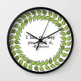 Floral - Work It Wall Clock