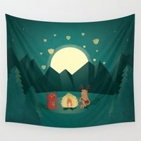 camp Wall Tapestries featuring Camp Fires by Milli-Jane