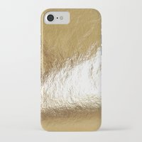 gold foil iPhone & iPod Cases featuring Gold Foil by The Wellington Boot