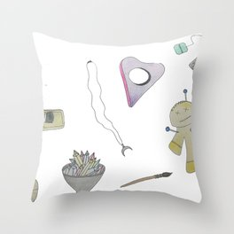witchy things Throw Pillow