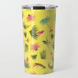 Air Plants yellow Background Travel Mug