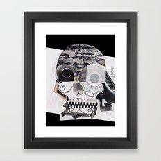 Collaged Skull Framed Art Print