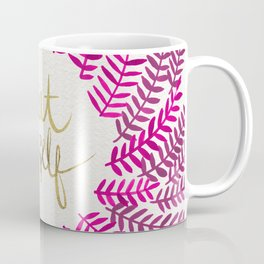 Treat Yo Self – Pink & Gold Coffee Mug