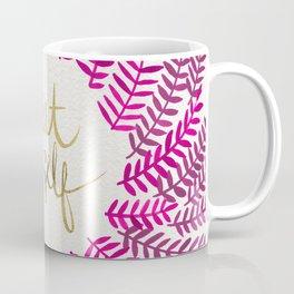Treat Yo Self – Pink & Gold Coffee Mug