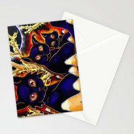 Three Halloween Cats Stationery Cards