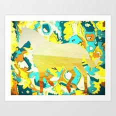 Sunburst Horse Collaboration Art Print