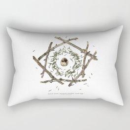 nature mandala... beech sticks, hemlock needles, quail egg Rectangular Pillow