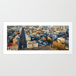 Reykjavík Tilt-Shift Art Print