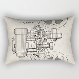 Film Projector Patent - Cinema Art - Antique Rectangular Pillow