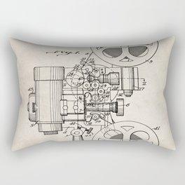 Film Projector Patent - Cinema Art - Antique Rectangular Pillow