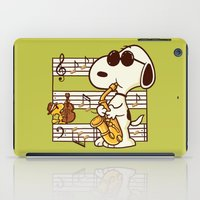 snoopy iPad Cases featuring Happiness is Music by Enkel Dika
