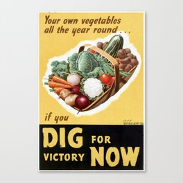Dig For Victory Canvas Print