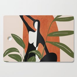 Abstract Female Figure 20 Cutting Board