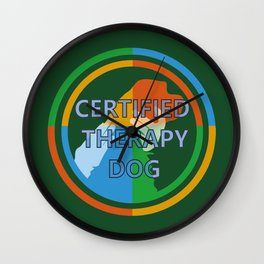 Animal Assisted Activities  - THERAPY DOG 8 Wall Clock