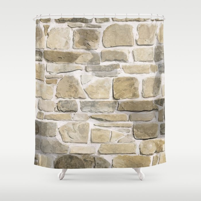 Brick Wall Shower Curtain By Angelolarocca