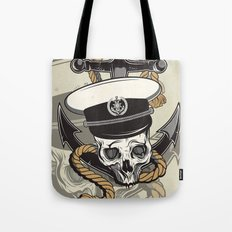 Skull with anchor Tote Bag