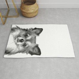 Black and White Chihuahua Rug
