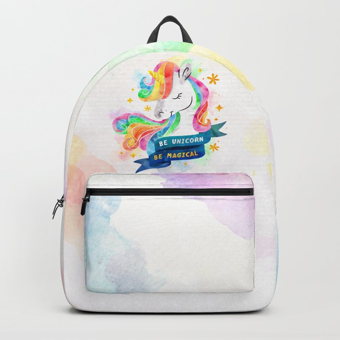 Be Unicorn Backpack By Stellawenny Society6