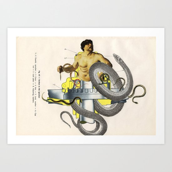 Laocoon (Section In The Sprocket) Art Print