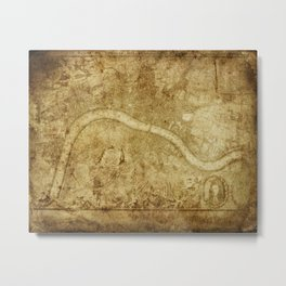 Old Map Metal Print