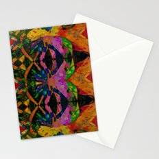 Liquid Nights Abstract Painting Manipulation Stationery Cards