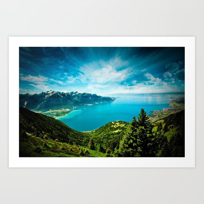 Lake Geneva Art Print