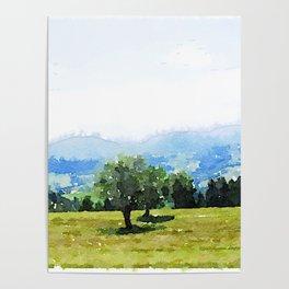 Fantastic Landscape, Austria 09,watercolor painting Poster