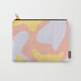 Soft Blobs Abstract in Lavender, Yellow, and Blush Pink Carry-All Pouch