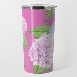 Pink Hydrangeas Travel Mug