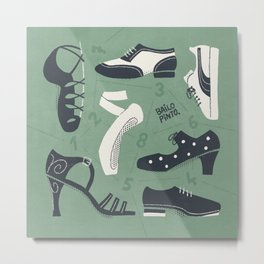 Dance Shoes Puzzle Metal Print