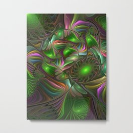 Colorful and Luminous, Abstract Fractal Art Metal Print