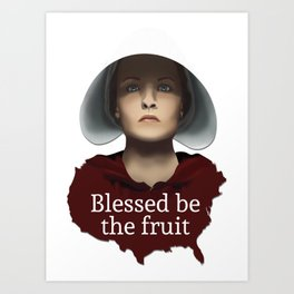 the handmade tale - blessed be the fruit Art Print
