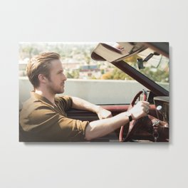 Seb in Traffic Metal Print