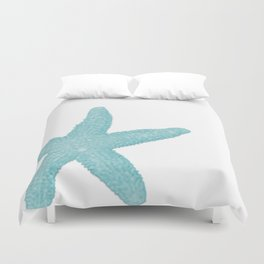 Aqua Starfish Duvet Cover
