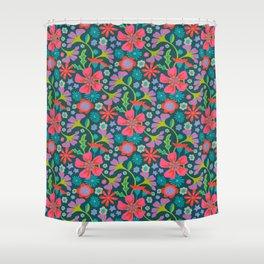 POP FLORAL Pattern Shower Curtain
