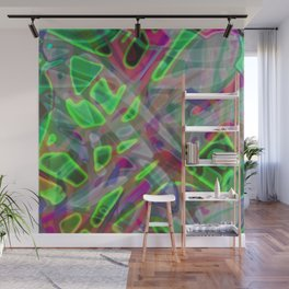 Colorful Abstract Stained Glass G300 Wall Mural