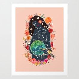 Pregnancy, motherhood, new mom, Gaia Art Print