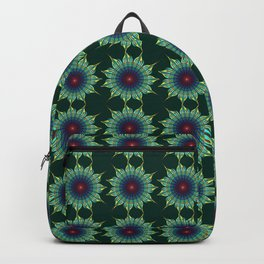 Starry fantasy flower with tribal patterns Backpack