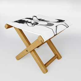 Dabbing Goth Unicorn Fun Gift Idea Design Folding Stool