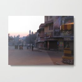 An Indian Morning in Mysore (India & Travel) Metal Print