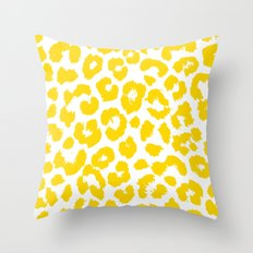 AmazinG LeOparD yellow Throw Pillow