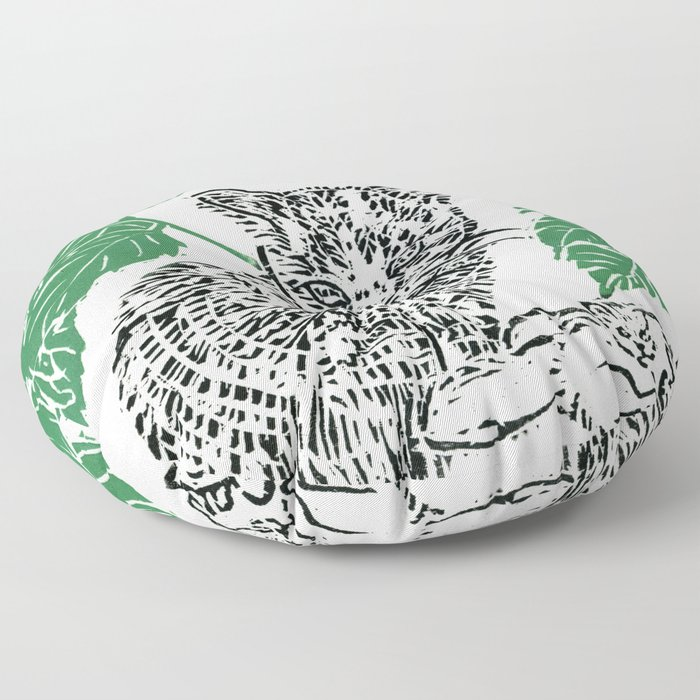 woodblock print Floor Pillow