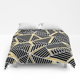 Ab Lines 2 Gold Comforters
