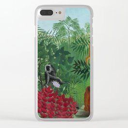 "Henri Rousseau ""Tropical Forest with Apes and Snake"", 1910 Clear iPhone Case"